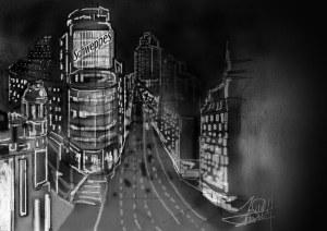 Dibujo Madrid gran via